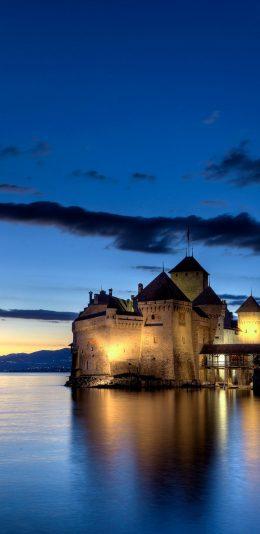 瑞士西庸城堡2k壁纸