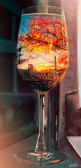 秋天风景-晚霞-夕阳-天空4k手机壁纸竖屏风景2160x3840