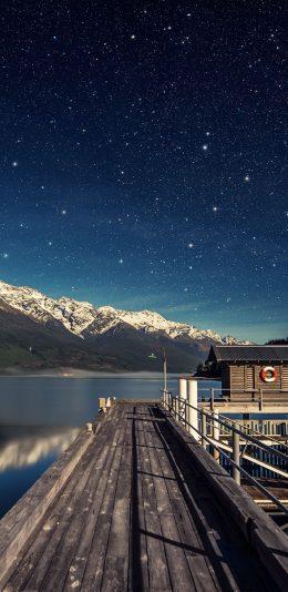 [2688x1242] iphone Xs MAX手机壁纸|星空和雪山