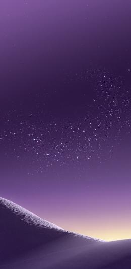 三星galaxy s8系统自带壁纸/紫色沙漠
