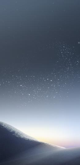三星galaxy s8系统自带壁纸/银色沙漠