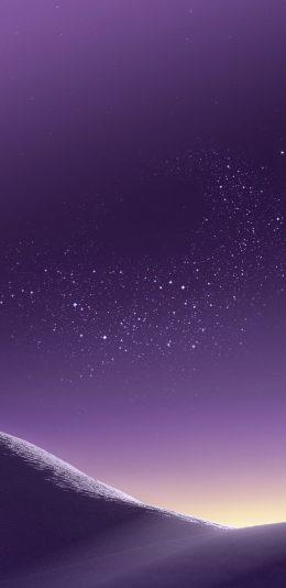 三星s8手机紫色沙漠壁纸