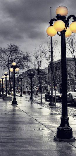 3120x1440手机壁纸|冬天的城市