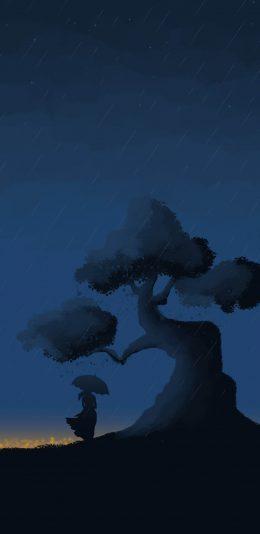 雨中的遥望