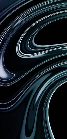 2436x1125 设计 黑色 抽象 线条 iphone手机壁纸