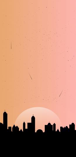 2688x1242 橙色 设计 适配iphone手机壁纸