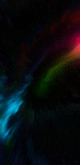 2436x1125 黑色 设计 宇宙 星星 适配iphone手机壁纸