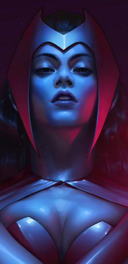 绯红女巫(Scarlet Witch)漫威漫画 超级英雄《X战警》 (1440x2960) 手机壁纸