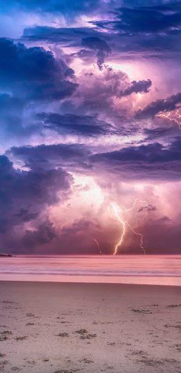 [2436x1125]天空 打雷天气手机壁纸