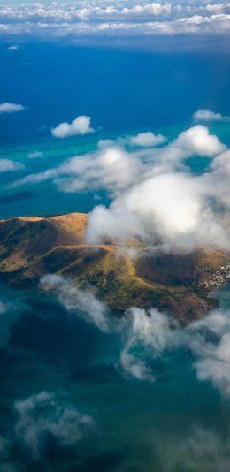海上的小岛高清航拍手机壁纸