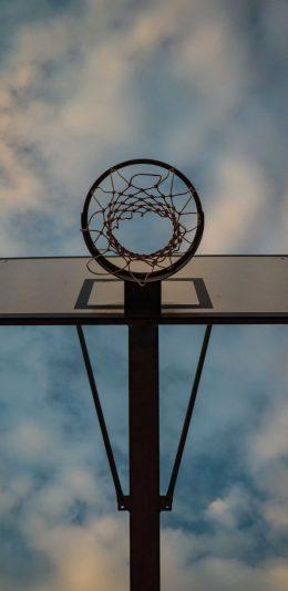 创意的篮球场球框摄影高清手机壁纸