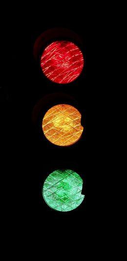 想要自己的手机壁纸和别人不一样,这个红绿灯壁纸够特别