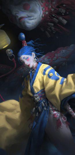 日漫女巫师人物角色插画高清手机壁纸