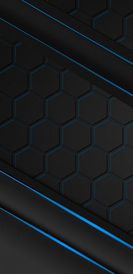 黑色抽象设计2960x1440手机壁纸