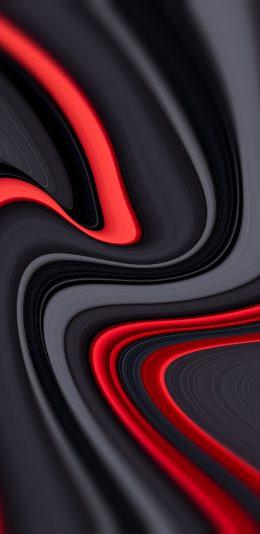 黑色线条抽象设计2K手机壁纸