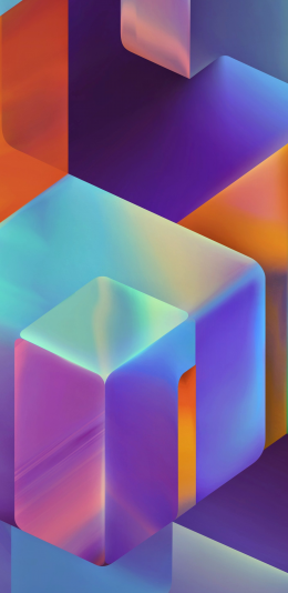 3D渐变设计方块2K手机壁纸