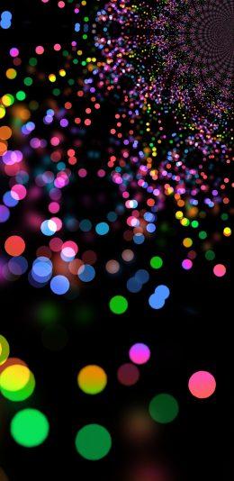 彩色光圈设计2K手机壁纸