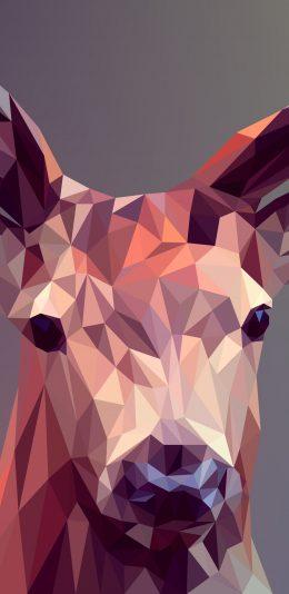 多边形设计鹿2K手机壁纸