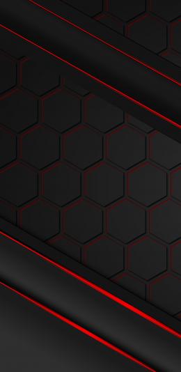 黑色抽象设计2960x1440 2K手机壁纸