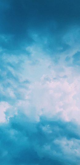 [2436x1125]天空 蔚蓝 云海 云层 苹果手机壁纸图片