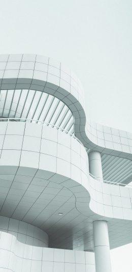 [2436x1125]建筑 白 曲线 设计 苹果手机壁纸图片