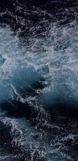 [2436x1125]海水 海浪 浪花 大海 苹果手机壁纸图片